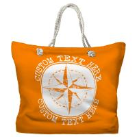 Personalized Compass Rose Tote Bag - Pantone 151 C