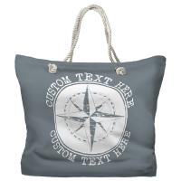 Personalized Compass Rose Tote Bag - Pantone 430 C