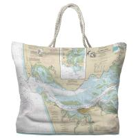 OR-WA: Columbia River; Pacific Ocean to Harrington Point, OR-WA Nautical Chart Tote Bag