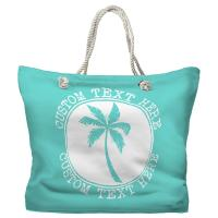Personalized Island Palm Tote Bag - Pantone 3242 C