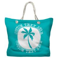 Personalized Island Palm Tote Bag - Pantone 2397 C