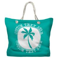 Personalized Island Palm Tote Bag - Pantone 326 C