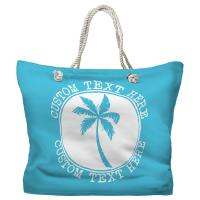 Personalized Island Palm Tote Bag - Pantone 637 C