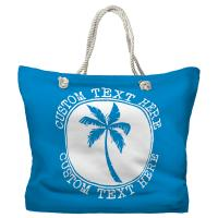 Personalized Island Palm Tote Bag - Pantone 3538 C