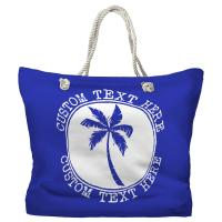 Personalized Island Palm Tote Bag - Pantone 2126 C