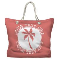 Personalized Island Palm Tote Bag - Pantone 2030 C