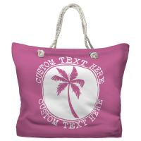 Personalized Island Palm Tote Bag - Pantone 3582 C