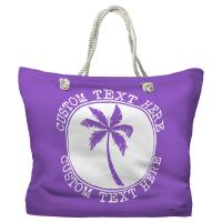 Personalized Island Palm Tote Bag - Pantone 2083 C