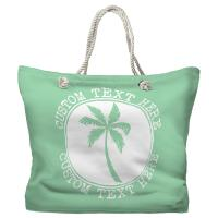 Personalized Island Palm Tote Bag - Pantone 344 C