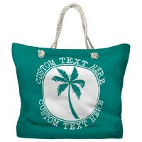 Personalized Island Palm Tote Bag - Pantone 7717 C