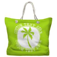 Personalized Island Palm Tote Bag - Pantone 2290 C