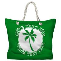 Personalized Island Palm Tote Bag - Pantone 2258 C