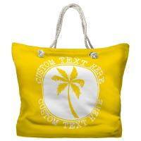 Personalized Island Palm Tote Bag - Pantone 012 C