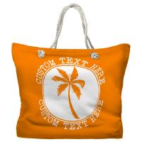 Personalized Island Palm Tote Bag - Pantone 151 C