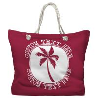 Personalized Island Palm Tote Bag - Pantone 194 C