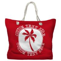 Personalized Island Palm Tote Bag - Pantone 3546 C