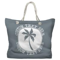Personalized Island Palm Tote Bag - Pantone 430 C