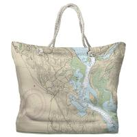 CT: Essex, CT Nautical Chart Tote Bag