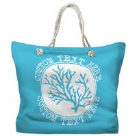 Personalized Coral Tote Bag - Pantone 637 C