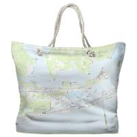 AL: Orange Beach, AL Topo Map Tote Bag