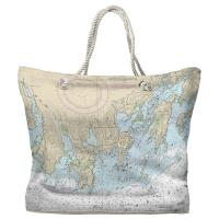 CT: Noank, CT Nautical Chart Tote Bag