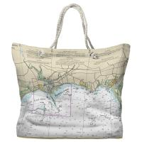 CT: Westbrook, CT Nautical Chart Tote Bag