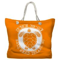 BHI, NC Sea Turtle Tote Bag - Pantone 151