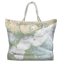 MS-LA: Lake Borgne and Approaches, MS-LA Nautical Chart Tote Bag