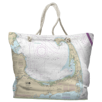 MA: Cape Cod, MA Nautical Chart Tote Bag