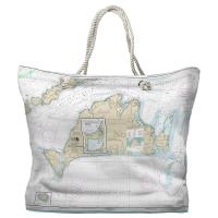 MA: Martha's Vineyard, MA Nautical Chart Tote Bag