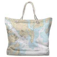 MD: Annapolis Harbor, MD Nautical Chart Tote Bag