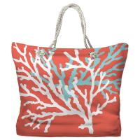 Coral Duo on Coral Tote Bag
