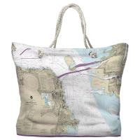 CA: San Francisco, CA Nautical Chart Tote Bag