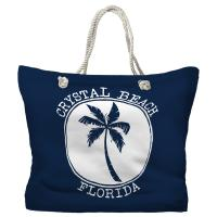 Crystal Beach, FL Island Palm Tote Bag - Pantone 2767 C