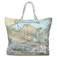 NC: Morehead City, NC Nautical Chart Tote Bag