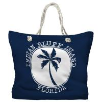Indian Bluff Island, FL Island Palm Tote Bag - Pantone 2767 C