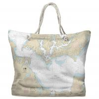 MD: Patuxent River; Solomons Island and Vicinity, MD Nautical Chart Tote Bag