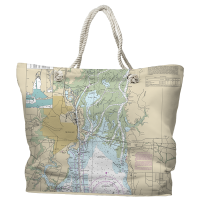 AL: Mobile, AL Nautical Chart Tote Bag