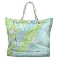 SC: Georgetown, Pawleys Island, SC (1986) Topo Map Tote Bag