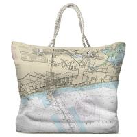MS: Gulfport, MS Nautical Chart Tote Bag