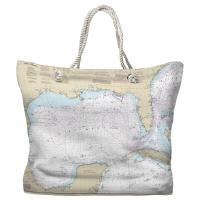 Gulf of Mexico Nautical Chart Tote Bag