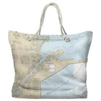 OH: Toledo Harbor, OH Nautical Chart Tote Bag