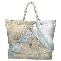 MN-WI: Duluth, MN & Superior, WI Nautical Chart Tote Bag