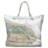 NJ: Cape May, NJ Nautical Chart Tote Bag