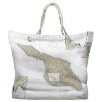 CA: Santa Catalina Island, CA Nautical Chart Tote Bag