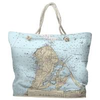 OH: Catawba Island, OH Nautical Chart Tote Bag