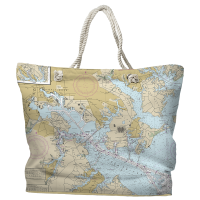 MD: Baltimore, MD Nautical Chart Tote Bag
