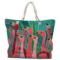 Flamingo Walk Tote Bag