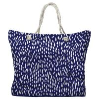 Hipster Navy Tote Bag