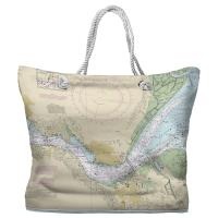 CA: Benicia, CA Nautical Chart Tote Bag